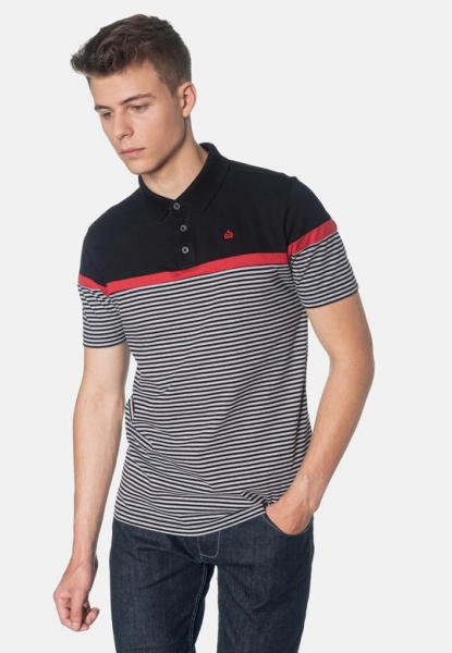 POLO MERC LONDON CLARENCE STRIPES NEGRO