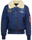 CAZADORA FLIGHT JACKET AZUL INJECTOR III