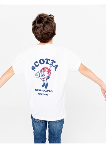 CAMISETA NIÑO POCKET NOW BLANCO SCOTTA
