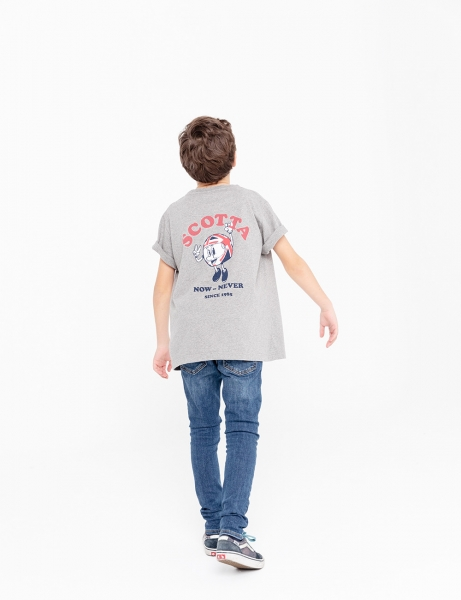 CAMISETA NIÑO SCOTTA POCKET NOW GRIS