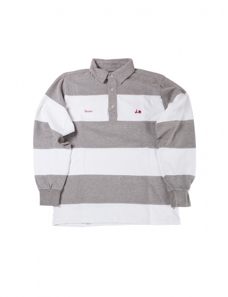 POLO GRIS SCOTTA RUGBY STRIPES