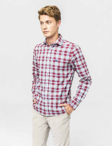 CAMISA SCOTTA COLOURS BURDEOS