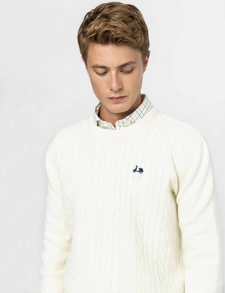 JERSEY SCOTTA CREW NECK OCHOS CRUDO