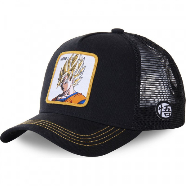 GORRA TRUCKER NEGRA SON GOKU GO4 DRAGON BALL
