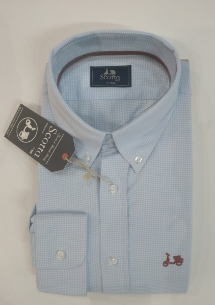 CAMISA SCOTTA GALLO SPORT CELESTE
