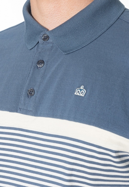 POLO MERC LONDON CLARENCE STRIPES AZUL